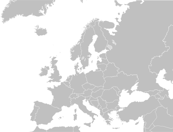 Blank political map Europe in 2006 WF